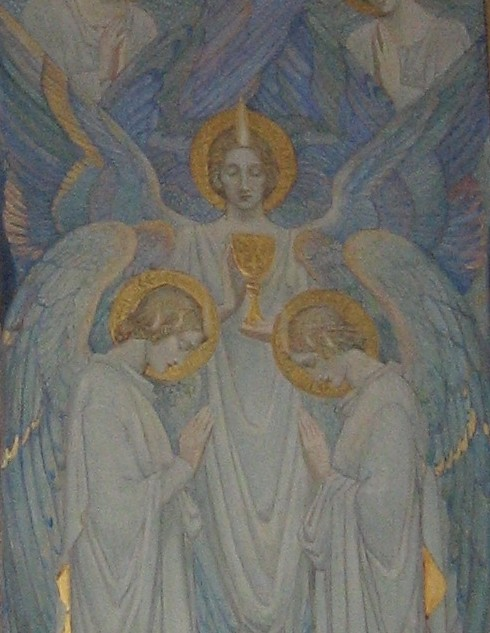 Angels surrounding a chalice